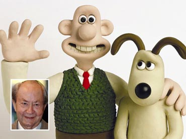 Wallace and Peter Sallis (inset)