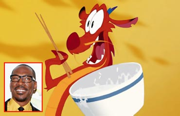 Mushu and Eddie Murphy (inset)