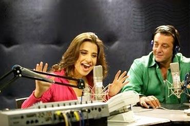 Vidya Balan and Sanjay Dutt in Lage Raho Munnabhai