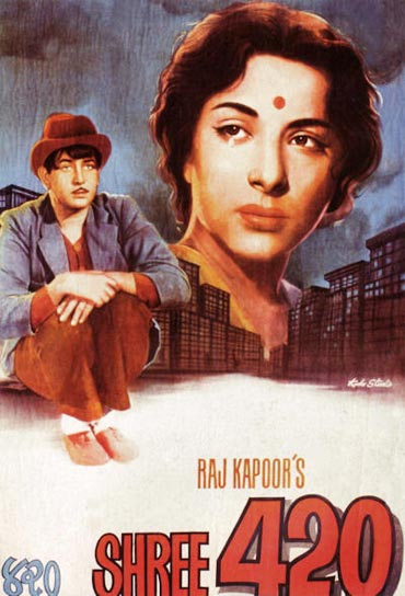 A movie poster of Shree 420