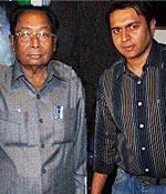 Sachin Bhowmick with grandson Shawrya
