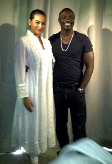 Akon with Sonakshi Sinha