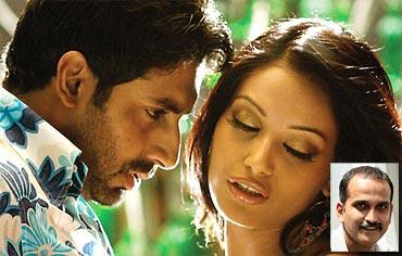 Abhishek Bachchan and Bipasha Basu in Dum Maaro Dum. Inset: Rohan Sippy