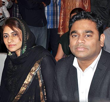 Rahman and his wife Saira