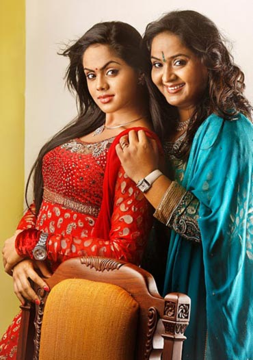 Karthika with her mother Radha
