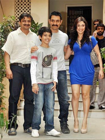 Satyajit Bhatkal, Darsheel Safary, Aamir Khan and Manjari Phadnis