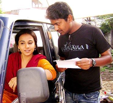 Vidya Balan with Vikas Kumar