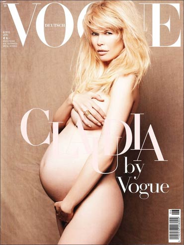 Claudia Schiffer on Vogue cover
