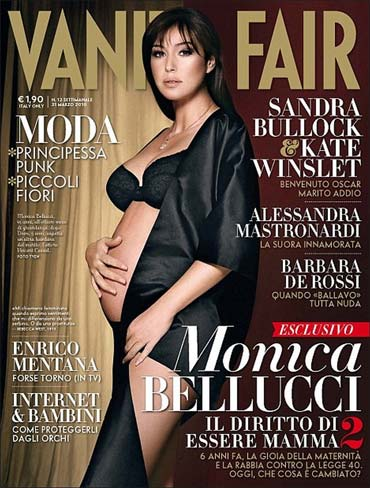 Monica Bellucci on Vanity Fair cover