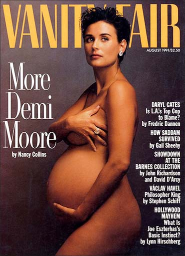 Demi Moore on Vanity Fair cover