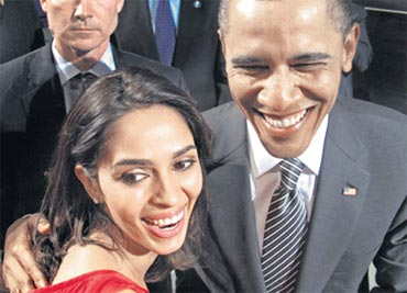 Mallika Sherawat and  Barack Obama