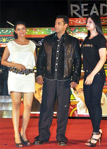 Asin, Salman Khan and Zarine Khan