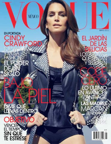 Cindy Crawford on Vogue cover