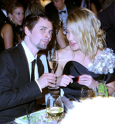 Matthew Bellamy and Kate Hudson