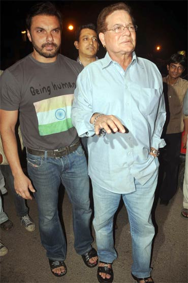 Sohail Khan and Salim Khan