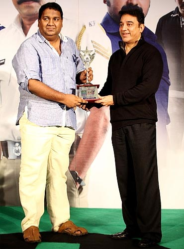 Kamal Haasan with Rajesh Pillai