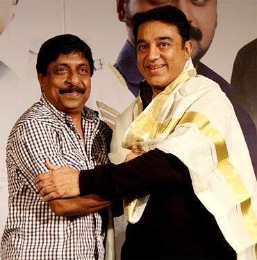 Kamal Haasan with Sreenivasan