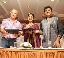 Anupam Kher, Radhika and Sarath Kumar