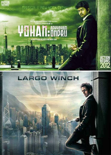 Top: Yohan: Adhyayam Ondru, bottom: Largo Winch