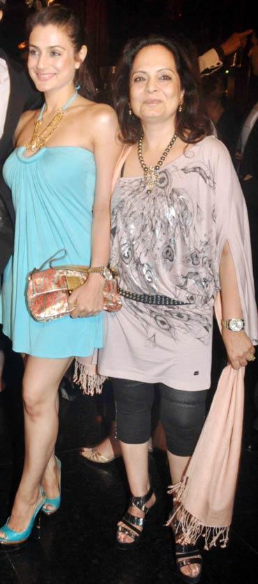 Ameesha Patel and Asha Patel