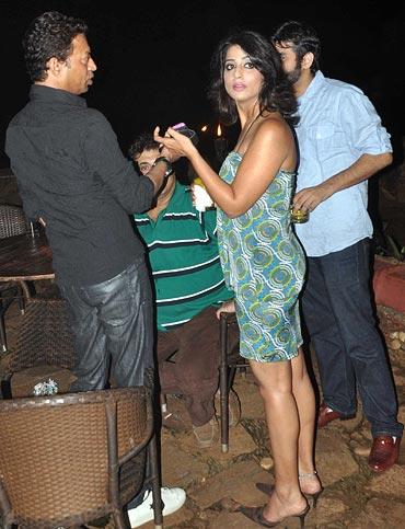Irrfan Khan and Mahie Gill