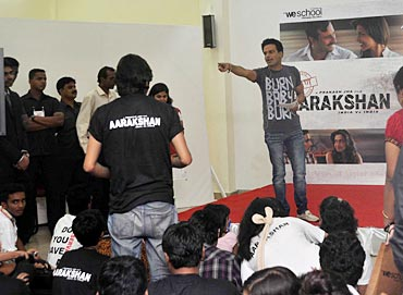 Manoj Bajpai teaches the students