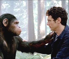 A scene from Rise of the Planet of the Apes