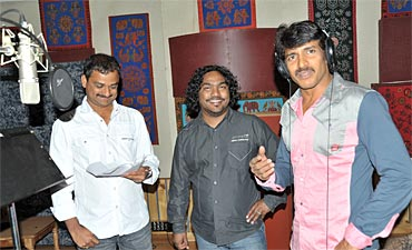 Uppi with Shashank and music director Arjun