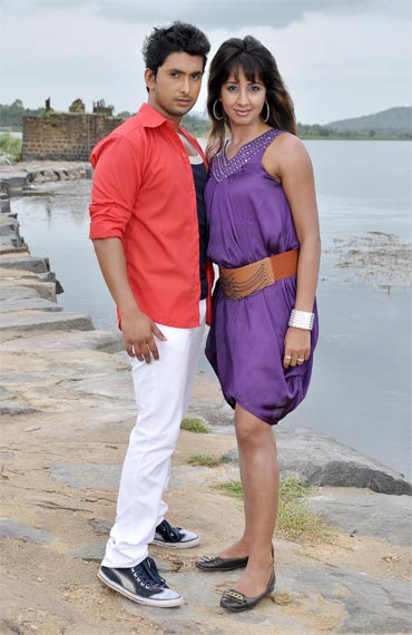 Sanjjanna and Tarun in Ondu Kshnadalli