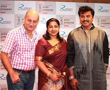 Anupam Kher, Raadhika and Sarath Kumar