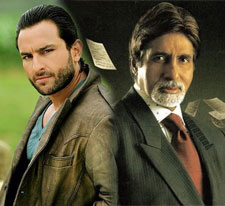 Saif Ali Khan and Amitabh Bachchan