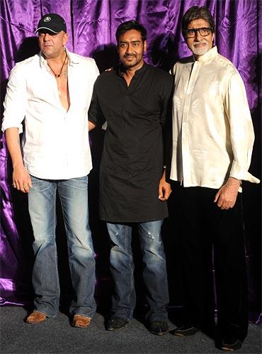 Sanjay Dutt, Ajay Devgn and Amitabh Bachchan