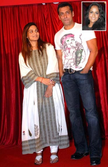 Alvira Khan and Salman Khan. Inset: Arpita