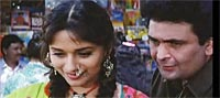 Madhuri Dixit and Rishi Kapoor in Prem Granth