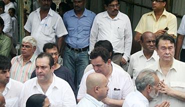 Ranbir Kapoor, Rajeev Kapoor, Rishi Kapoor and Randhir Kapoor