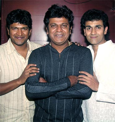 Puneet, Shivrajkumar and Raghvendra
