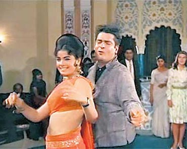 Shammi Kapoor and Mumtaz in Brahmachari