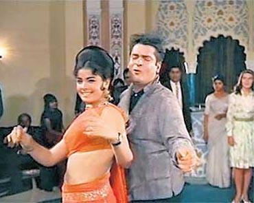 Shammi Kapoor and Mumtaz in Brahmachari