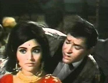 Shammi Kapoor and Vyjayantimala in Prince
