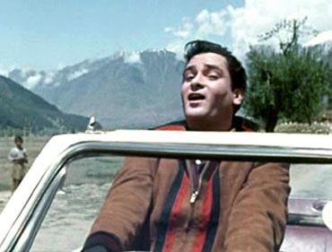 Shammi Kapoor in Kashmir Ki Kali