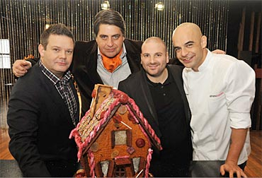 Gary Mehigan, Matt Preston, George Calombaris and Adriano Zumbo