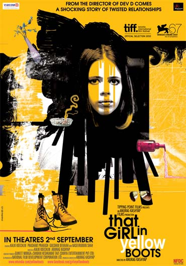 A That Girl In Yellow Boots movie poster