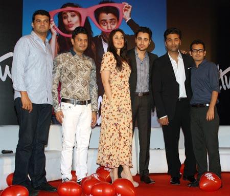 Siddharth Roy Kapoor, Bhushan Kumar, Kareena Kapoor, Imran Khan, Karan Johar and Shakun Batra