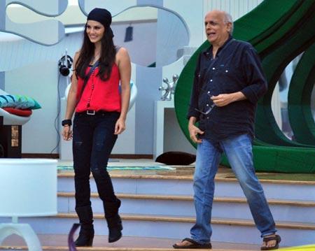 Sunny Leone and Mahesh Bhatt in Bigg Boss