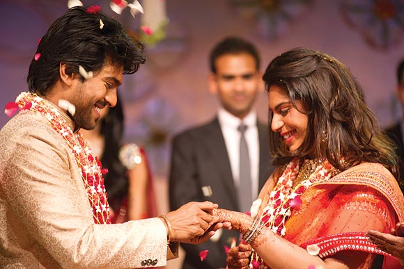 Ram Charan and Upasna exchange rings