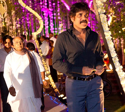 Nagarjuna arrives