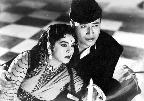 A scene from Ziddi (1948)