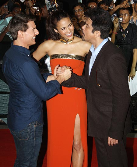 Tom Cruise, Paula Patton and Anil Kapoor