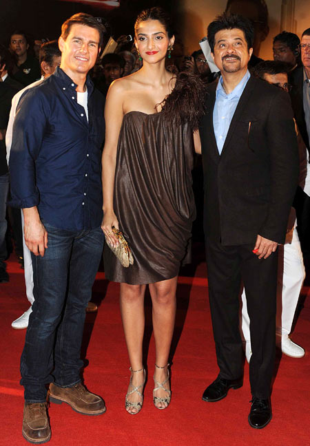 Tom Cruise, Sonam Kapoor and Anil Kapoor