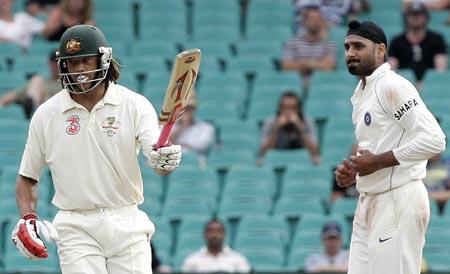 Andrew Symonds and Harbhajan Singh